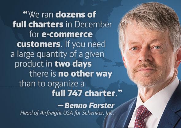 Benno Forster, Head of Airfreight USA, DB Schenker.